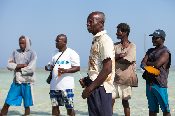 Malagasy fishermen mark the opening of an octopus fishing grounds that has been closed for several months to allow octopuses there to replenish. They offer Fanta and rum (but never Coke, which they consider inferior) to their ancestors as part of an opening-day ceremony. Photo copyright: Garth Cripps / Blue Ventures 2015.