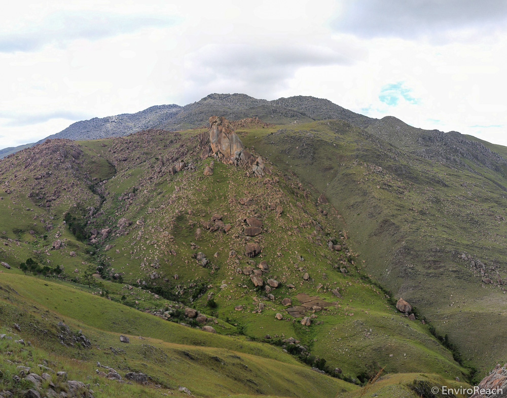 A landscape view of part of the Ibity Massif. Photo credit: EnviroReach.