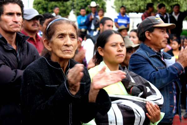 Mataquescuintla residents attended a November 2014 celebration of the second anniversary of the municipality's referendum on mining. Photo credit: CPR-Urbana / Centro de Medios Independientes.