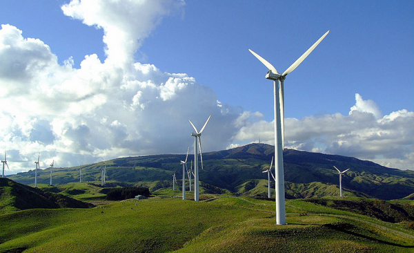 The Te Apiti wind farm in New Zealand was granted tradeable carbon offset credits when it was built in 2003/2004. Wind energy projects were popular in voluntary carbon markets in 2014. Photo credit: Jondaar_1.